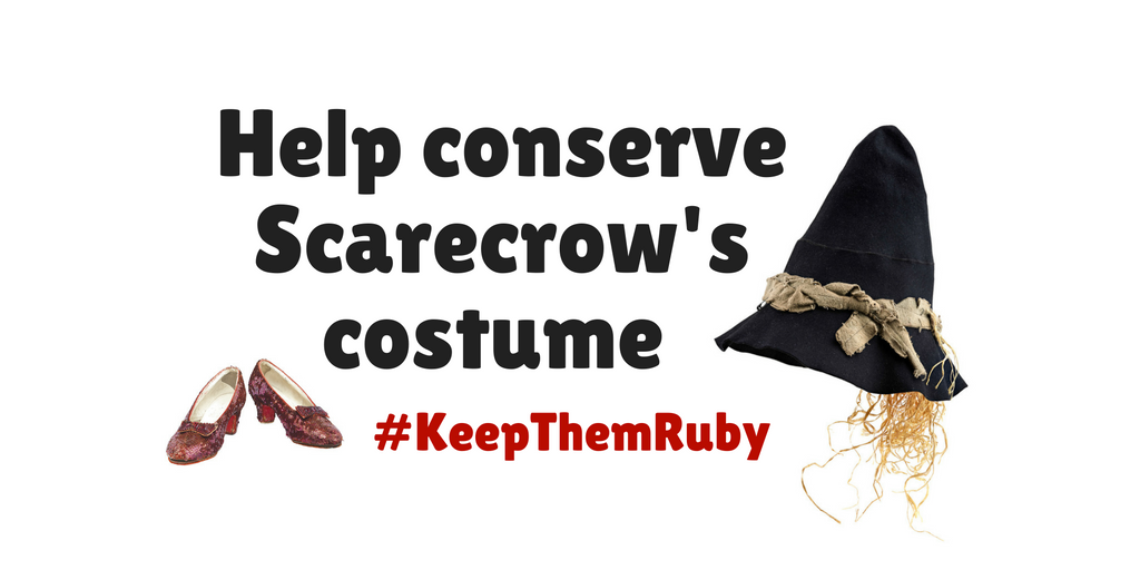 Graphic including Ruby Slippers and Scarecrow hat