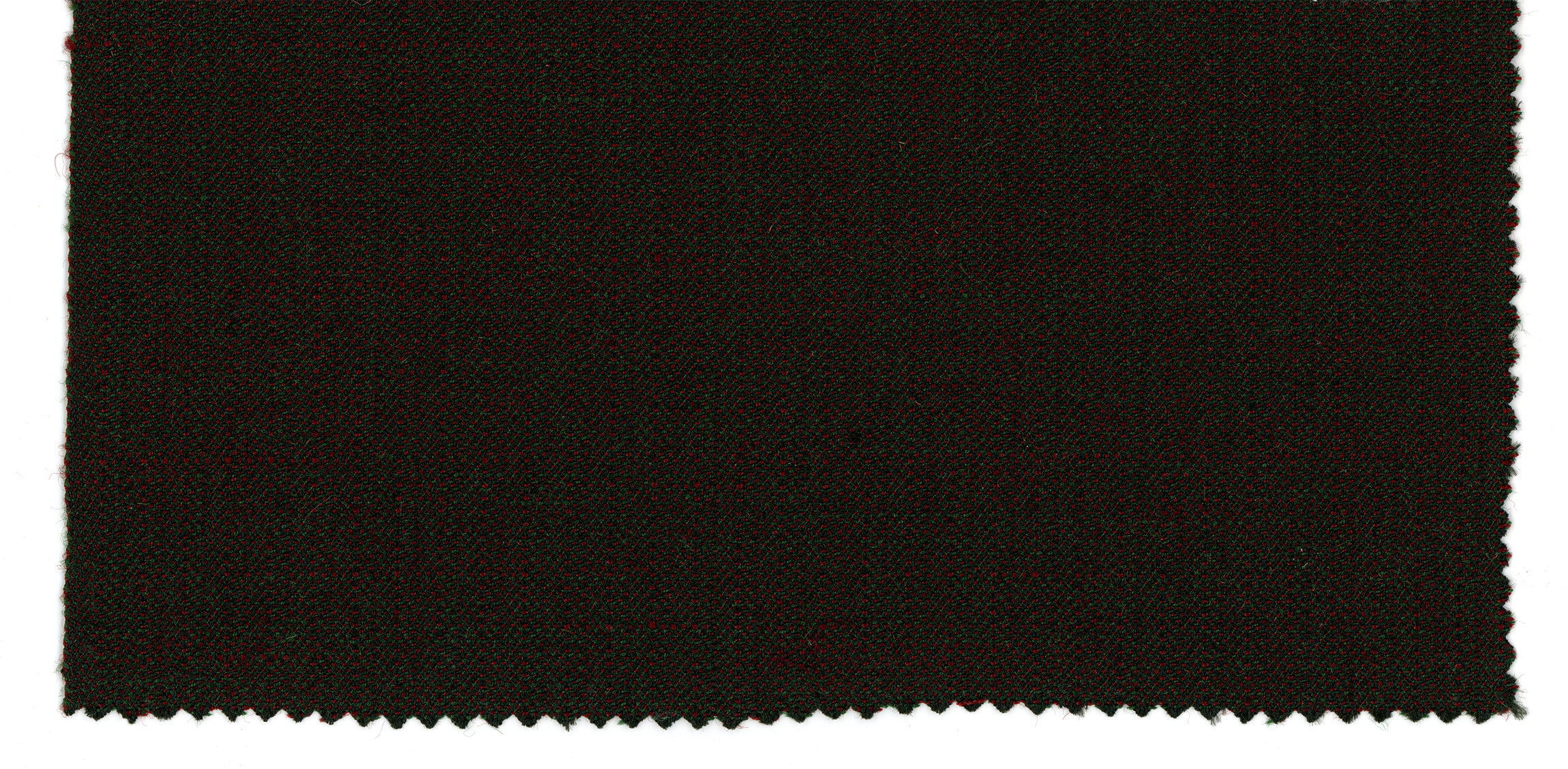 Photo of fabric. Dark black or blue, deep red, forest green.