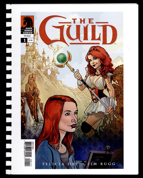 Comic book with person wearing contemporary clothing and fantastical costume