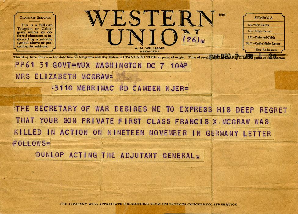 A telegram.