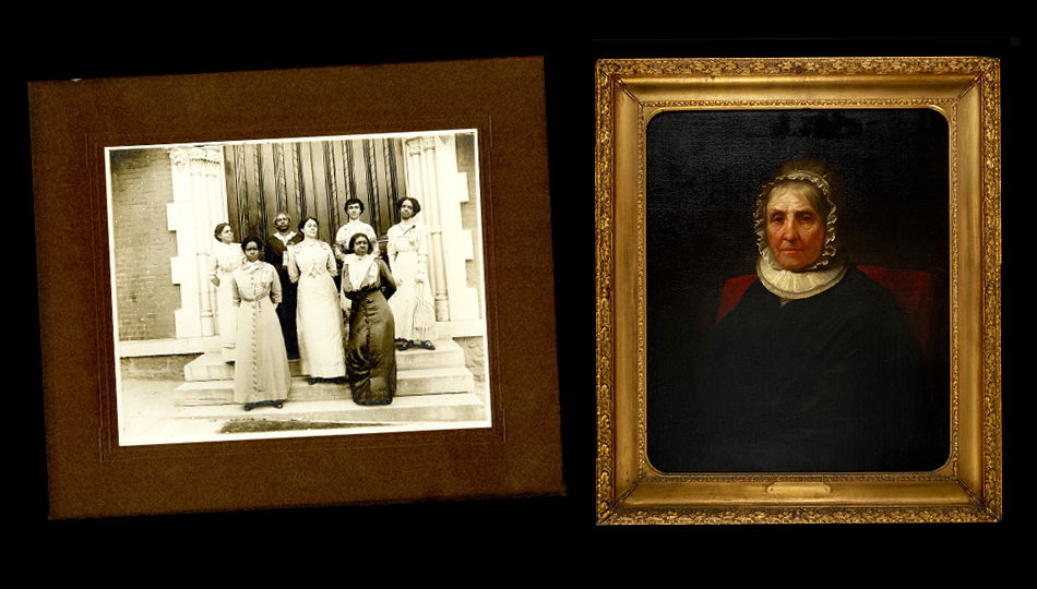 Nannie Helen Burroughs photo and Elizabeth Schuyler Hamilton by Daniel Huntington,