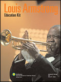 Cover of the education kit with a photo of Armstrong playing the trumpet