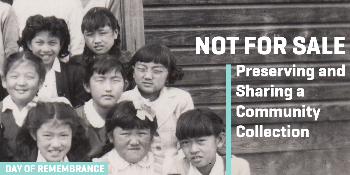 Not For Sale: Preserving and Sharing a Community Collection (photo of young girls in Japanese Incarceration camp)