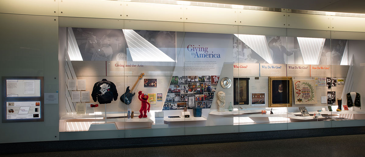 Giving in America display