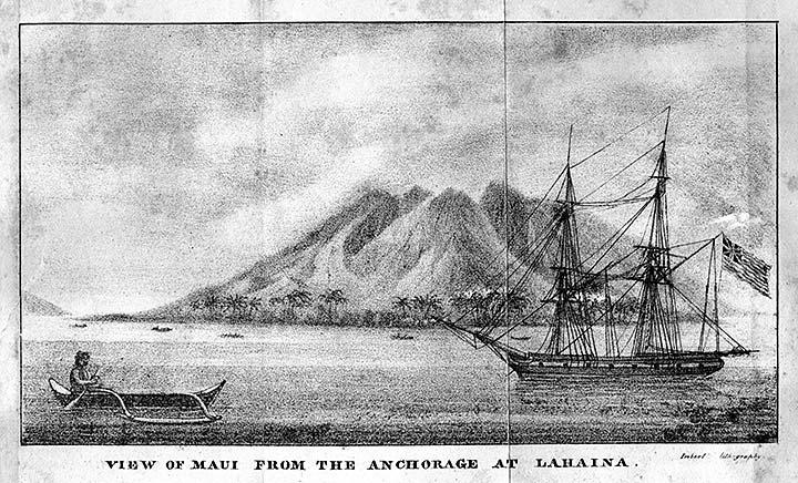 View of Cleopatra's Barge, the Royal Yacht of Hawaiian monarch Kamehameha II