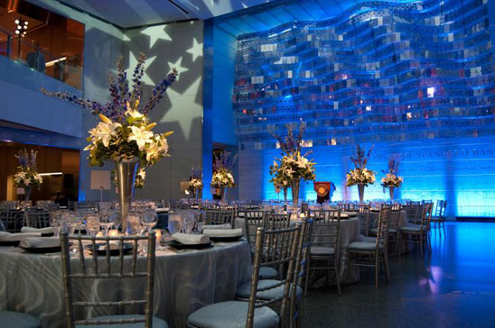 Flag Hall decorated for an event