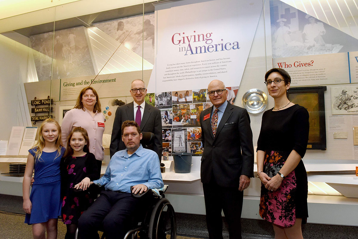 Giving in America exhibition