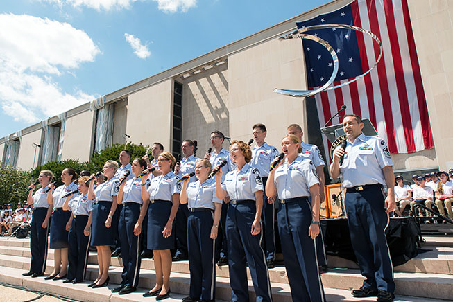 USAF singers at the Raise it Up event at the Museum