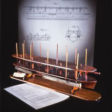 Abraham Lincoln's patent model for buoying vessels over shoals, 1849