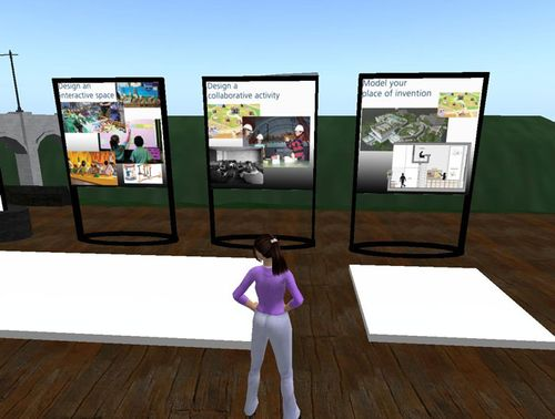 Screenshot from The Tech Virtual prototyping space devoted to Lemelson Center design challenges