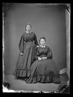 Portrait of two young women by Barr & Wright, 1870-1880