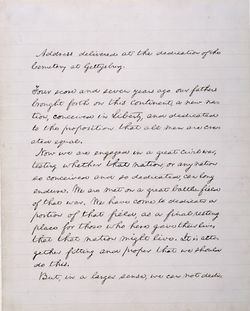 First page of the Gettysburg Address