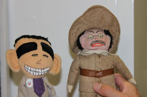 Obama and Roosevelt Dolls