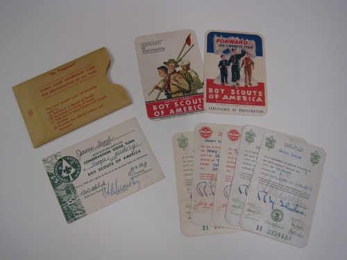 6 Boy Scout Membership Cards from James Goode