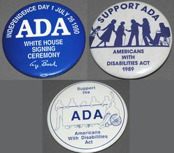 Americans with Disabilities Act buttons