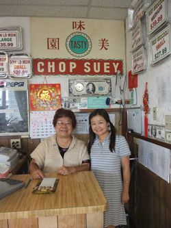 At Tasty with the owner Mrs. Lui