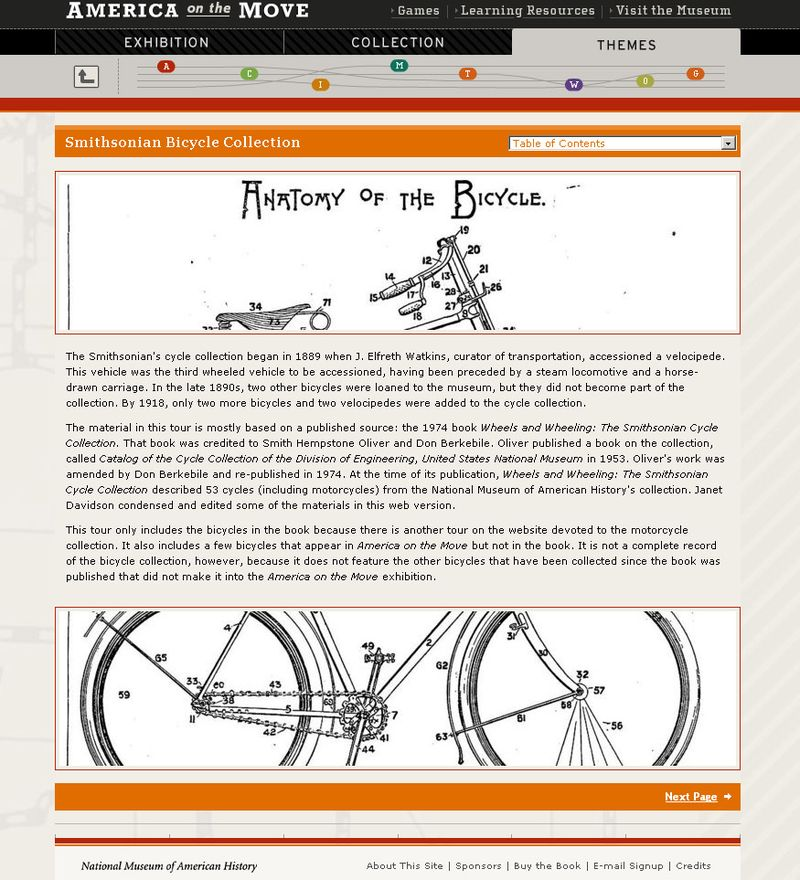 Exploring continuity and change through the history of the bicycle