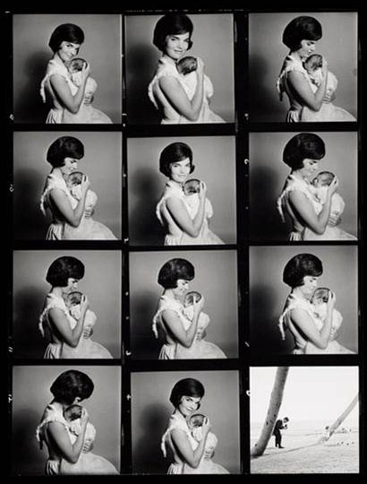 Avedon Jackie Contact Sheet