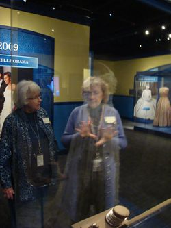 Barbara Naef and Jane Lee Taylor, NMAH Docents, reflect on Mrs. Obama's inaugural gown