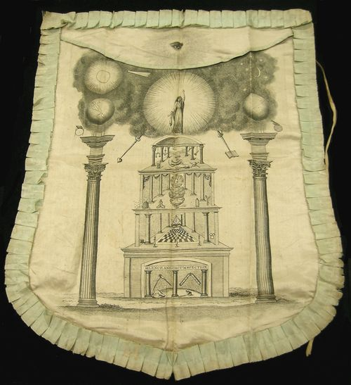 1820s Masonic Apron Smithsonian National Museum of American History collections