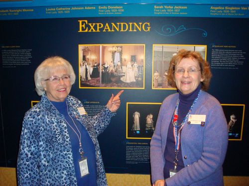 Barbara Naef and Jane Lee Taylor have 52 years of docent experience, National Museum of American History Docents