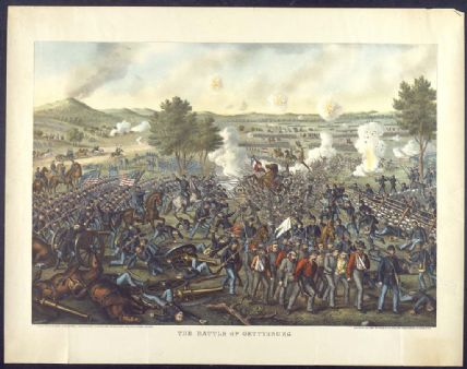 Battle of Gettysburg Lithograph