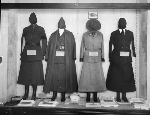 3 Exhibit Case of women's uniform, National Museum