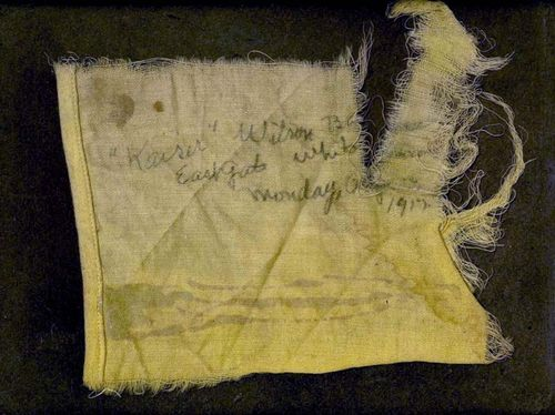 Scrap of the protest banner in the Museum collections