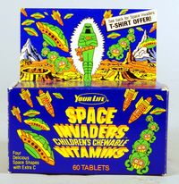 Space Invaders vitamin box