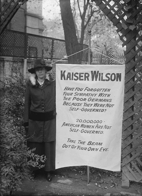 Kaiser Wilson protest banner, courtesy of the Library of Congress