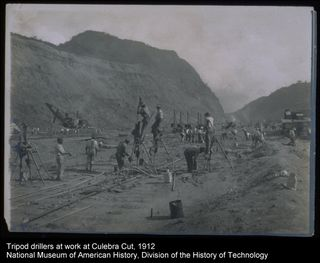 50,000 workers helped construct the Panama Canal, a vital waterway connecting the Atlantic and Pacific Oceans.