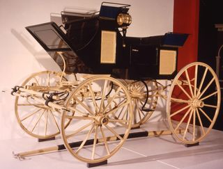 Ulysses S. Grant purchased this carriage from Meeks Carriage and Wagon Repository during his first term in the White House and rode in it to his second inauguration in 1873. His second inauguration was very cold—at noon it was 16 degrees.