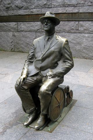 "Photograph of the Franklin D. Roosevelt Memorial in Washington, D.C., by Flickr user ""wallyg"" (Wally Gobetz), used via the Flickr creative commons license"