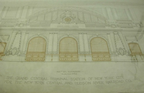 elevation plan for Grand Central Terminal