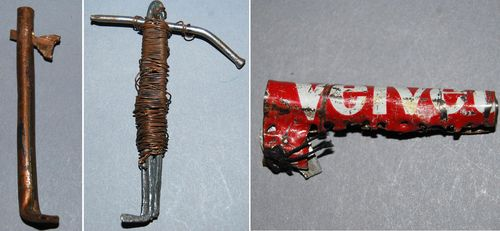 "Patients at Winnebago State Hospital in Wisconsin made these key from ""found"" materials."