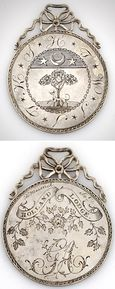 Peter Maverick Masonic Medal - engraved silver Masonic medal dating to 1789