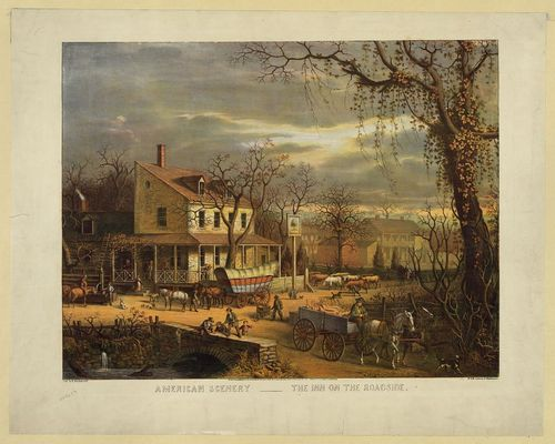Wagoners frequented their favorite inns during the three-week journey to Pittsburgh, Pennsylvania or Wheeling, Virginia (now West Virginia).
