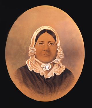 This image is the only known likeness of Mary Pickersgill. She was 40 years younger when she made the Star-Spangled Banner, and was already a successful entrepreneur.