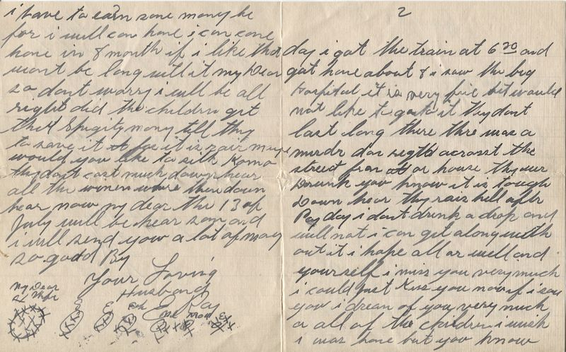 Edward Ray's letter to his wife reveals a vivid picture of life in Panama.