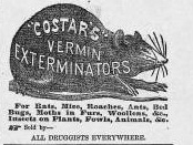 "Advertisement for Costar's Vermin Exterminator (""Harper's Weekly,"" April 23, 1864, p. 271)"