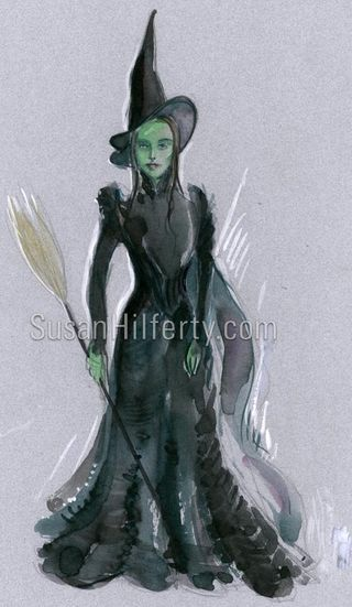 Susan Hilferty's sketch for the Elphaba costume.