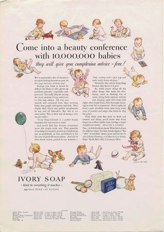 Come into a beauty conference with 10,000,000 babies. [Print advertising.] General circulation publications 1930
