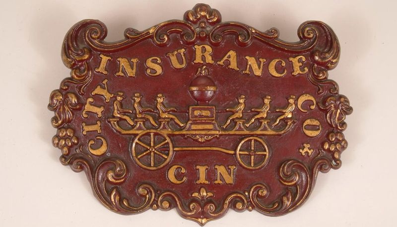 This City Insurance Company of Cincinnati, Ohio issued this fire mark around 1849. It meant that the property was insured against fire damage.