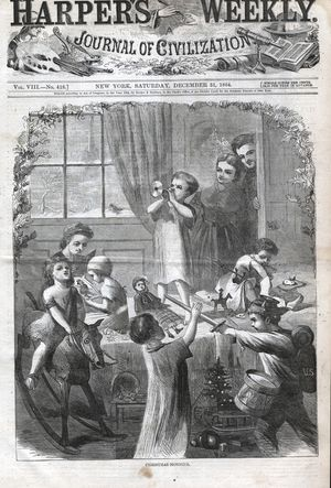 """Christmas Morning,"" Harper's Weekly, Dec. 31, 1864"