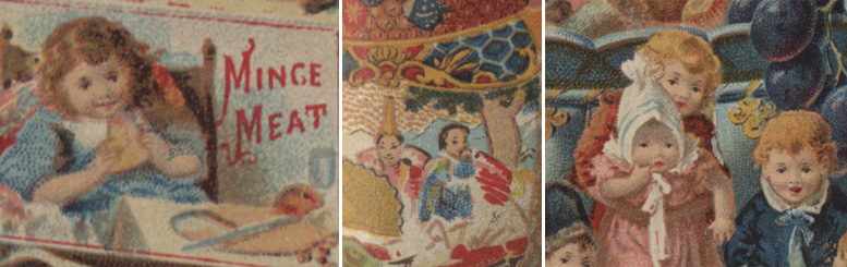 Details of the New England condensed Mince Meat advertising card