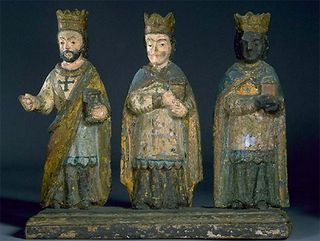A set of Los Tres Reyes Magos from Puerto Rico in the museum's collection, probably crafted around 1900