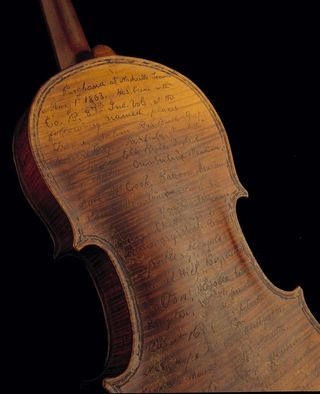 "Solomon Conn, a Civil War soldier with Company B of the 87th Indiana Volunteers, recorded a list of his travels and battles on the back of his ""Greffuhle"" violin, turning the instrument into a unique document of his adventures and military record."