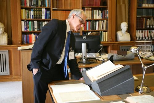 I was able to view Smithson's manuscripts in the Royal Society's archives.