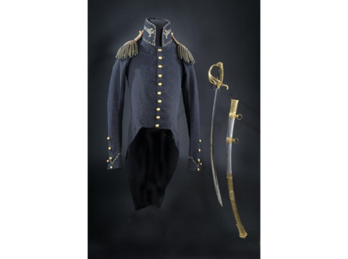 Andrew Jackson carried this sword and scabbard while commanding the American forces, which included Tennessee militia, U.S. regulars, and Cherokee, Choctaw, and Southern Creek Indians during the Creek War in the War of 1812.