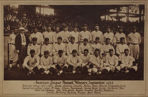The 1925 American League Champion Washington Nationals